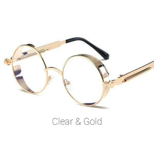 Clear & Gold Time Traveller Sunglasses
