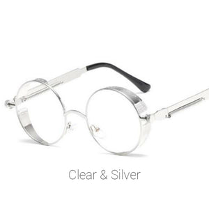 Clear & Silver Time Traveller Sunglasses