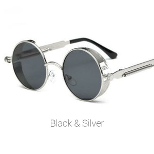 Black & Silver Time Traveller Sunglasses