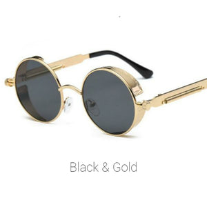 Black & Gold Time Traveller Sunglasses