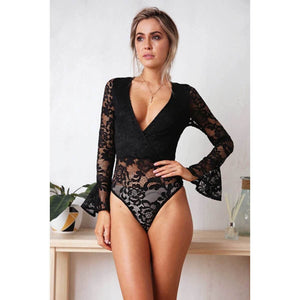 Lacey Bodysuit In Black on model