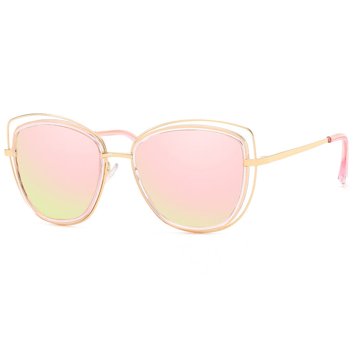 Pink & Gold Gold Coast Cat-Eye Sunglasses