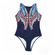 Bali One Piece in Navy Blue on model