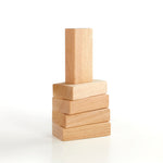 Hardwood unit block set 5 piece.  Classic unit blocks for home or school.  Hardwood Unit Block Set 5 pc.  Smooth sanded edges and dent resistant