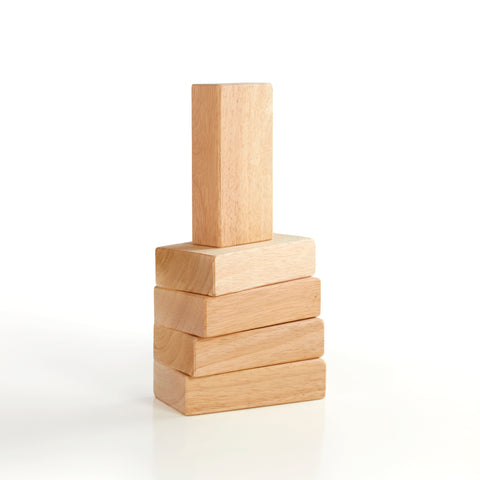 Hardwood unit block set 5 piece.  Classic unit blocks for home or school.  Smooth sanded edges and dent resistant