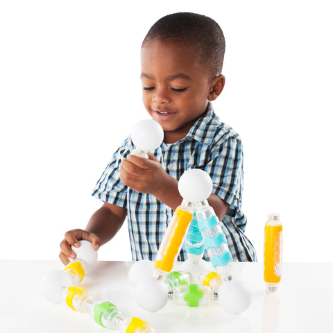 Grippies® Shakers - 30 Piece Set.  Perfect for toddlers to exercise their auditory, fine and gross motor and engineering skills.
