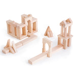 lock Science Unit Blocks Set B.   Children explore geometric and engineering builds while developing their fine motor, spatial thinking, and problem-solving skills through open-ended quality block play.