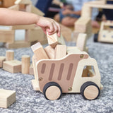 Wooden Dump Truck.  These durable plywood trucks are a great addition to any classroom or playroom block play area.  Age 2 +