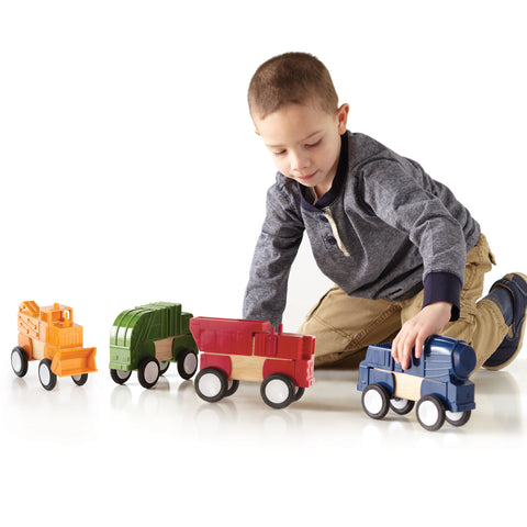 Block Mates Construction Vehicle is designed to enhance the original principles of block-building. Ages 3+.