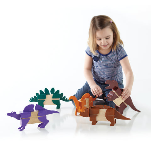 Block Mates Dinosaur is designed to enhance the original principles of block-building. create new, imaginative creatures. Ages 3+