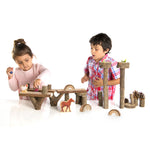 Branch Blocks are for building and dramatic play inspiration.  The textured bark adds sensory exploration mirroring the organic benefits of outdoor play.  Practice stacking, sorting and STEM activities.