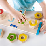 Count and Twist Shapes. Develop color and shape identification, classification and fine-motor skills using this dexterous nuts and bolts.