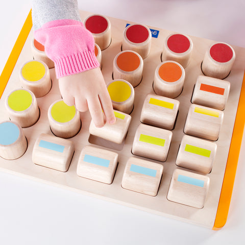 Count By Color Cylinders.  This durable activity board  is perfect for children  to practice counting, matching and identification skills with engaging math and color activities.  For Ages: 2+