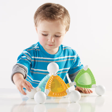 Grippies® Windows - 16 Piece Set. Watch your young builder discover magnetic principles, properties of light, and color recognition through multiple building and patterning activities.