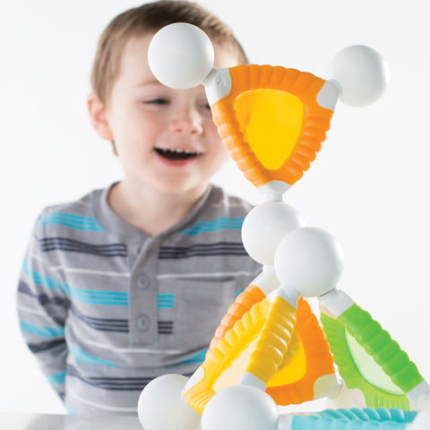 Grippies® Windows - 24 Piece Set. Watch your young builder discover magnetic principles, properties of light, and color recognition through multiple building and patterning activities.