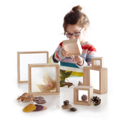 Magnification Blocks.  Ideal for exploring natural, tactile, and other detailed materials found inside or in nature.