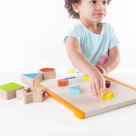 Nest and Fit Shapes. Match colors and shapes while strengthening fine-motor skills, hand-eye coordination and memory.