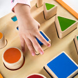 Nest and Stack Shapes. Encourage color and size seriation, spatial thinking and fine-motor skills using the colorful and recognizable shapes.