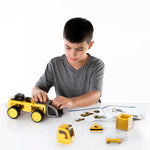 PowerClix® Construction Vehicle Set. Build a sturdy front loader, dump truck, bulldozer or endless open-ended vehicle combinations using the simple click-on pieces.