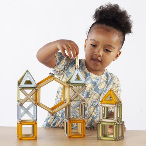 PowerClix® Frames Natural - 74 pc. set.  In keeping with STEM toy attributes, PowerClix's magnetic building toys encourage children to think like engineers while having fun.  Age 3++