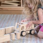 Wooden Fire Truck.  a great addition to any classroom or playroom block play area.