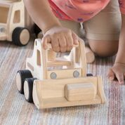 Wooden Front Loader.  Easily incorporate this durable truck into any block play area for enhanced dramatic play and builds.