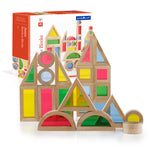 Jr Rainbow Block 40 Piece Set. One-third smaller than the unit block size, Jr. Rainbow Blocks are a new challenge in creating structures and extending traditional block play.