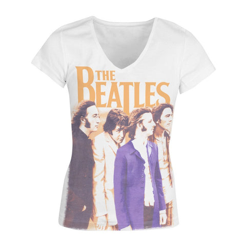 The Beatles Band Profile - Womens White T-Shirt