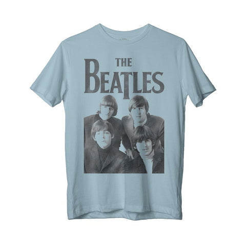 The Beatles Group Photo - Womens Blue T-Shirt