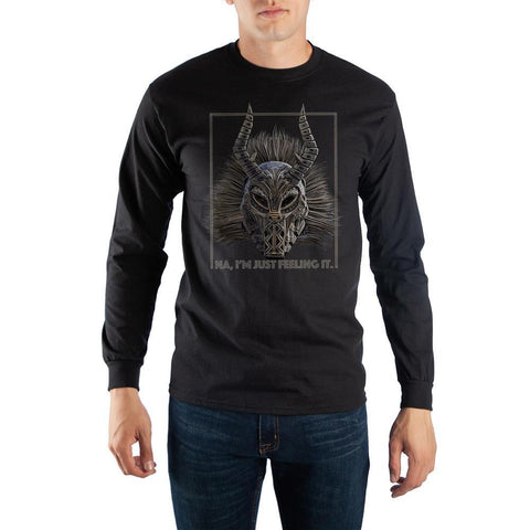 Marvel: Black Panther - Killmonger Mask Long Sleeve T-Shirt