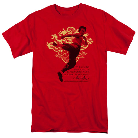 Bruce Lee - Immortal Dragon Short Sleeve Adult 18/1