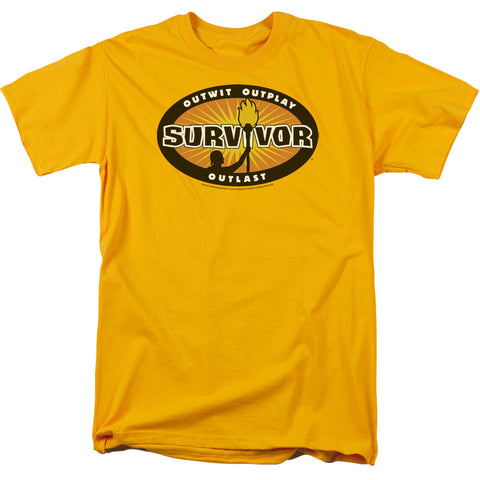 Survivor - Gold Burst Short Sleeve Adult 18/1