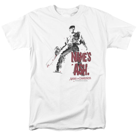 Army Of Darkness - Names Ash Short Sleeve Adult 18/1