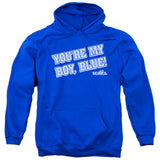 Old School - My Boy Blue Adult Pull Over Hoodie