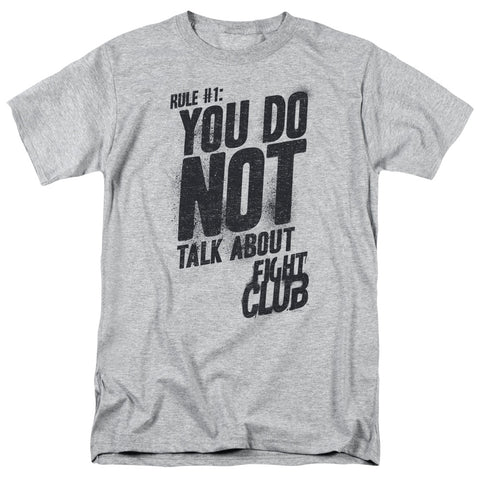 Fight Club - Rule 1 Short Sleeve Adult 18/1