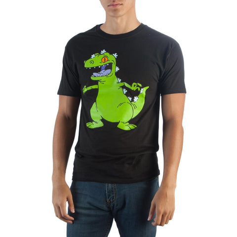 Nickelodeon Rugrats Reptar Mens Black T-Shirt