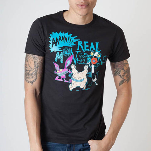 Nickelodeon Aaahh!!! Real Monsters Men's Black T-Shirt
