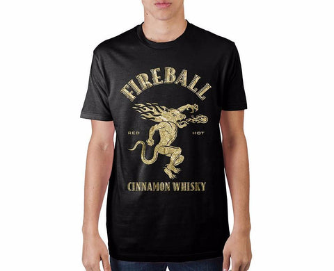Fireball Whiskey Logo Gold T-Shirt