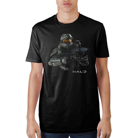 Halo Master Chief Mens Black T-Shirt