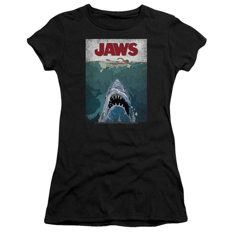 Jaws - Lined Poster Premium Bella Junior Sheer Jersey