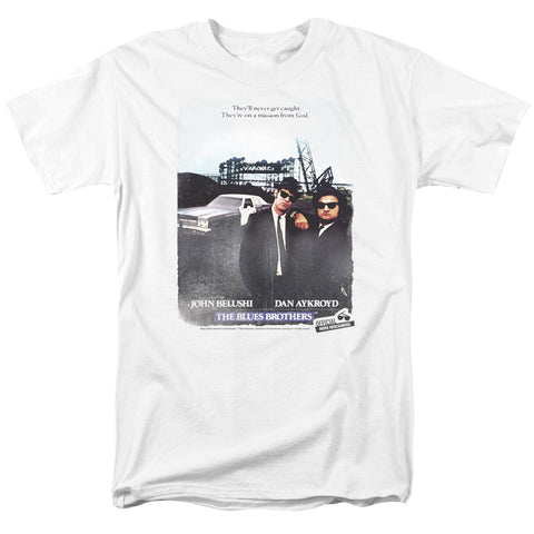 Blues Brothers - Distressed Poster Short Sleeve Adult 18/1