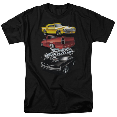 Fast And The Furious - Muscle Car Splatter Short Sleeve Adult 18/1