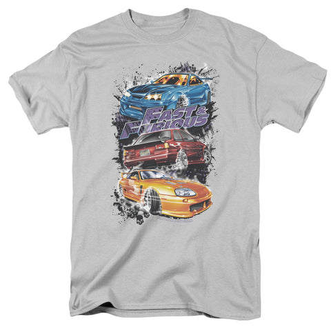 Fast And The Furious - Smokin Street Cars Short Sleeve Adult 18/1