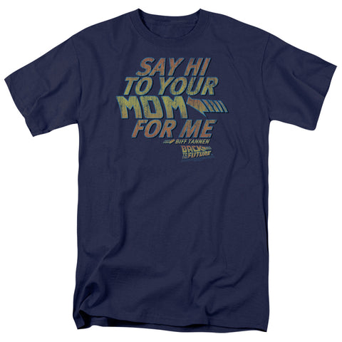 Back To The Future - Say Hi Short Sleeve Adult 18/1