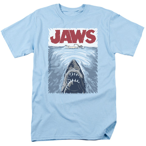 Jaws - Graphic Poster Short Sleeve Adult 18/1