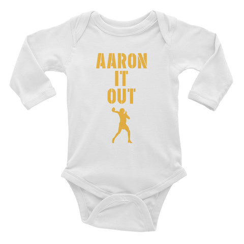 """Aaron It Out"" Infant Long Sleeve Bodysuit"