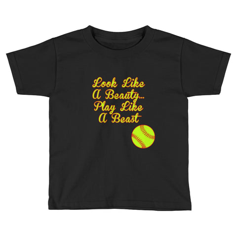 """Look Like A Beauty..."" Kids Short Sleeve T-Shirt"