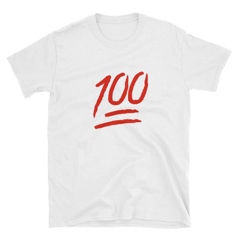 """100"" Short-Sleeve Unisex T-Shirt"