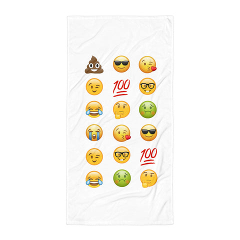 """Emoji Themed"" Beach Towel"