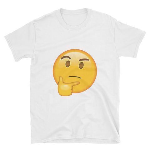 """Thinking Emoji"" Short-Sleeve Unisex T-Shirt"